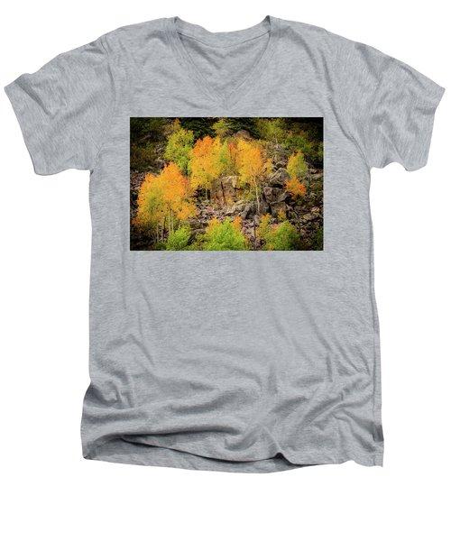 Autumn In The Uinta Mountains Men's V-Neck T-Shirt