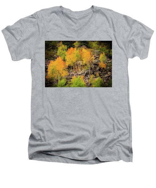 Autumn In The Uinta Mountains Men's V-Neck T-Shirt