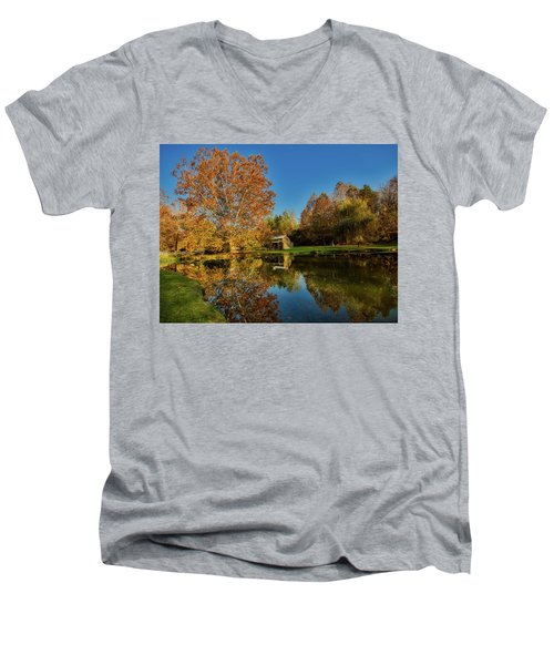 Autumn In West Virginia Men's V-Neck T-Shirt by L O C