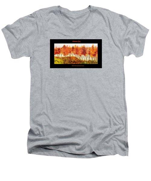 Autumn Joy Men's V-Neck T-Shirt by Suzanne Canner