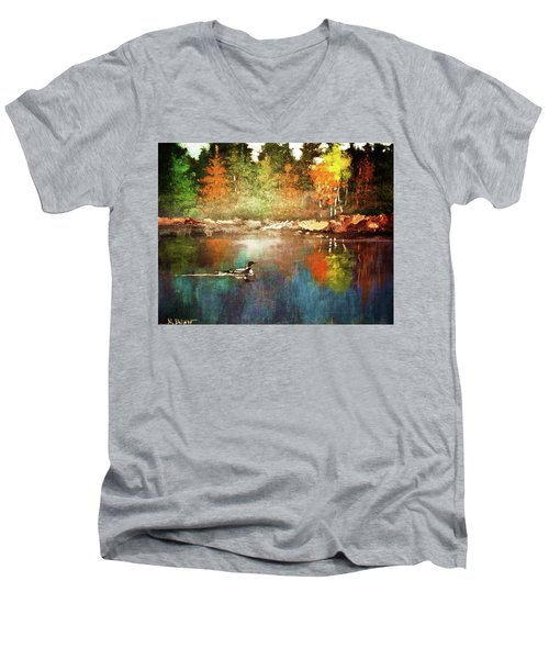 Autumn Lake Reflections Men's V-Neck T-Shirt