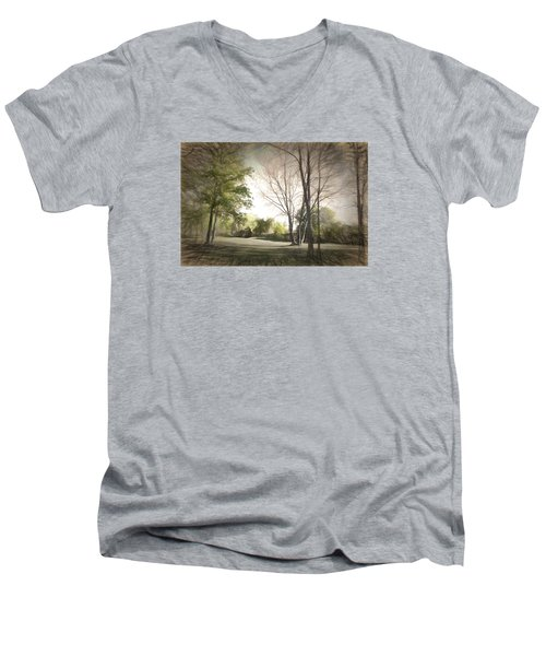 Autumn Landscape Men's V-Neck T-Shirt by Rena Trepanier