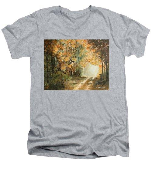 Autumn Lane Men's V-Neck T-Shirt