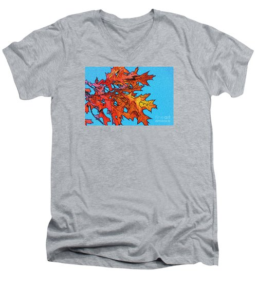 Autumn Leaves 14 Men's V-Neck T-Shirt