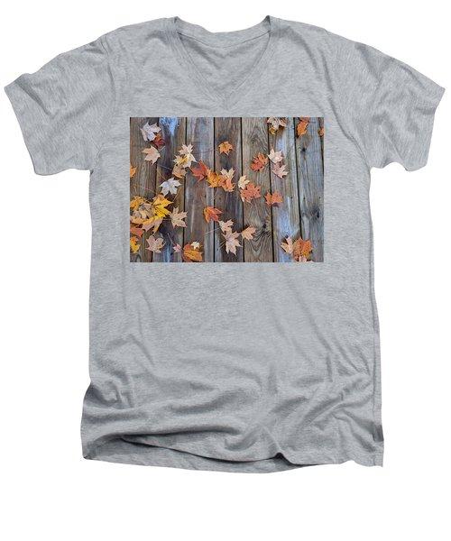 Autumn Leaves Fall Men's V-Neck T-Shirt