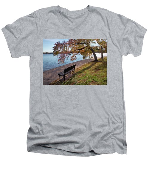 Autumn Leaves In Dc Men's V-Neck T-Shirt