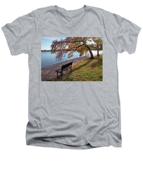 Autumn Leaves In Dc Men's V-Neck T-Shirt