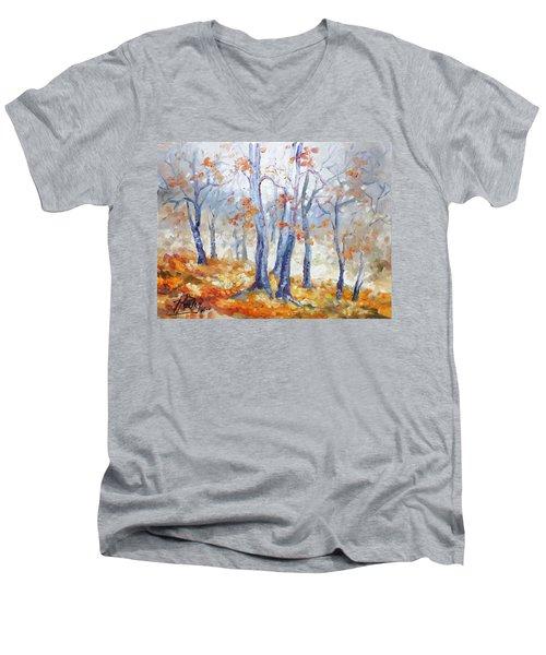 Autumn Mist - Morning Men's V-Neck T-Shirt by Irek Szelag