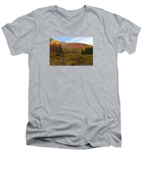 Autumn  Moose Bog Men's V-Neck T-Shirt