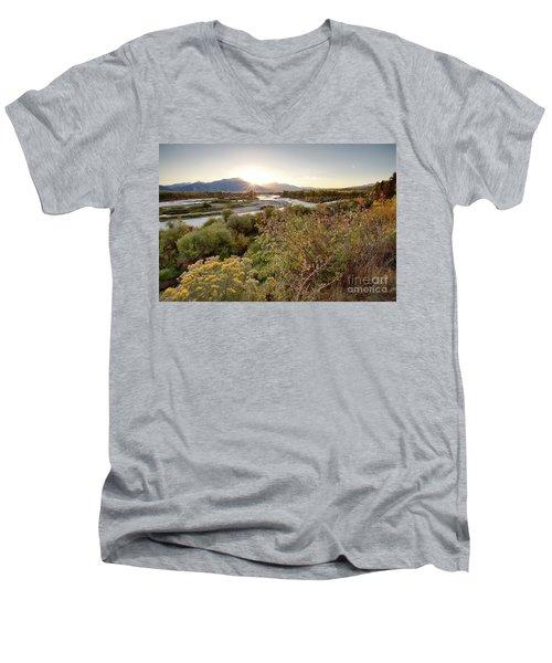 Autumn On The South Fork Men's V-Neck T-Shirt