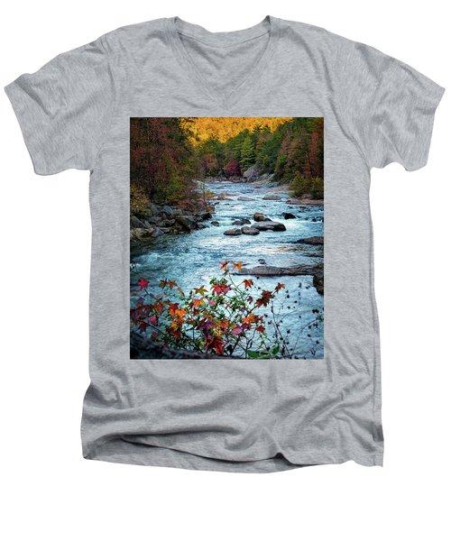 Autumn On Wilson Creek Men's V-Neck T-Shirt
