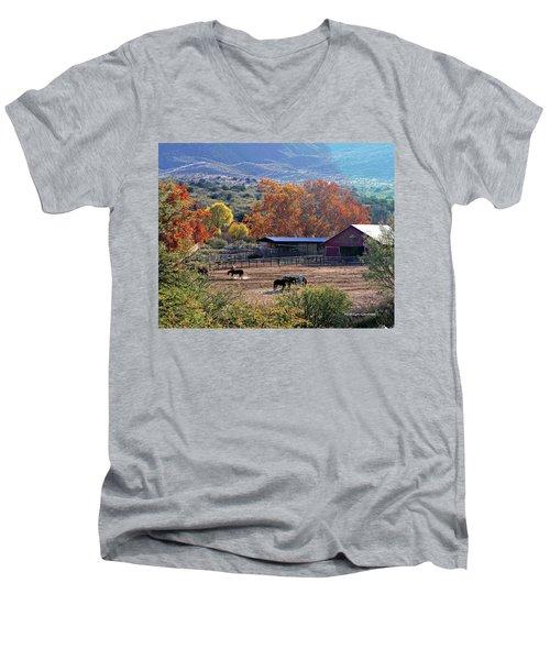 Autumn Ranch Men's V-Neck T-Shirt