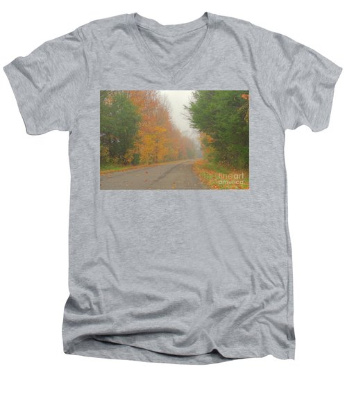 Autumn Roads Men's V-Neck T-Shirt