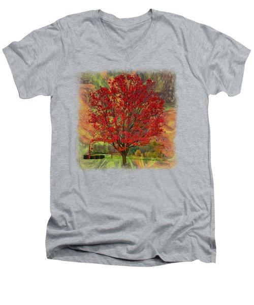 Autumn Scenic 2 Men's V-Neck T-Shirt
