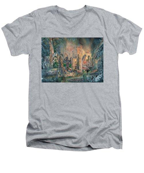 Autumn Seeds Men's V-Neck T-Shirt