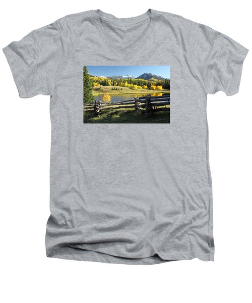 Autumn Serenade Men's V-Neck T-Shirt by Eric Glaser