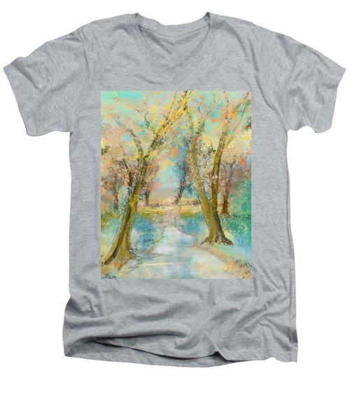 Autumn Sketch Men's V-Neck T-Shirt