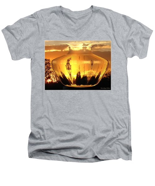 Men's V-Neck T-Shirt featuring the photograph Autumn Spirits by Joyce Dickens
