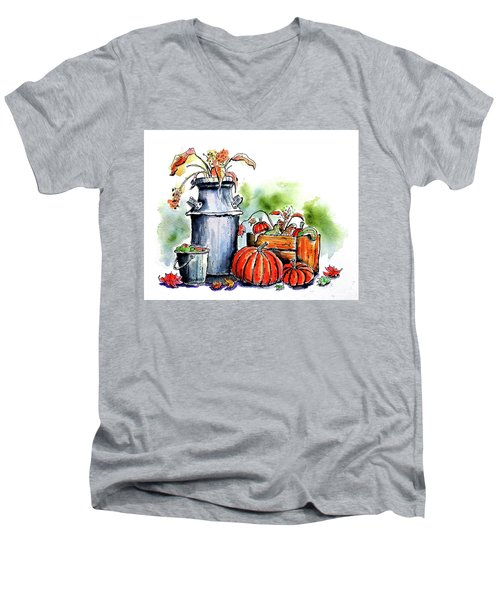 Autumn Still Life 1 Men's V-Neck T-Shirt by Terry Banderas