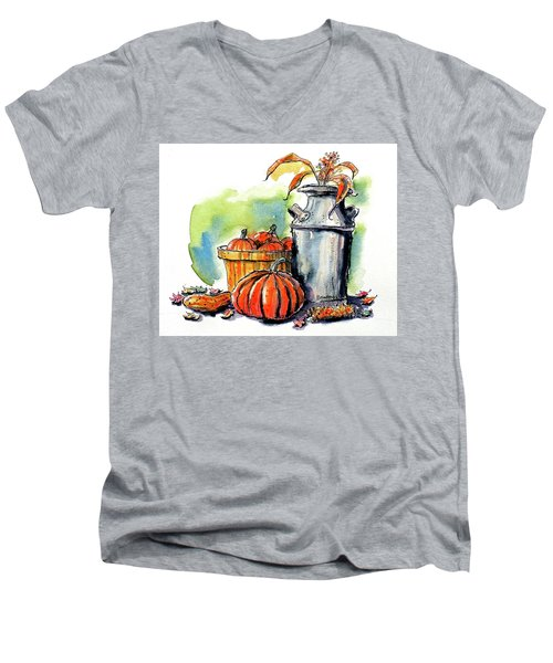 Autumn Still Life 2 Men's V-Neck T-Shirt by Terry Banderas