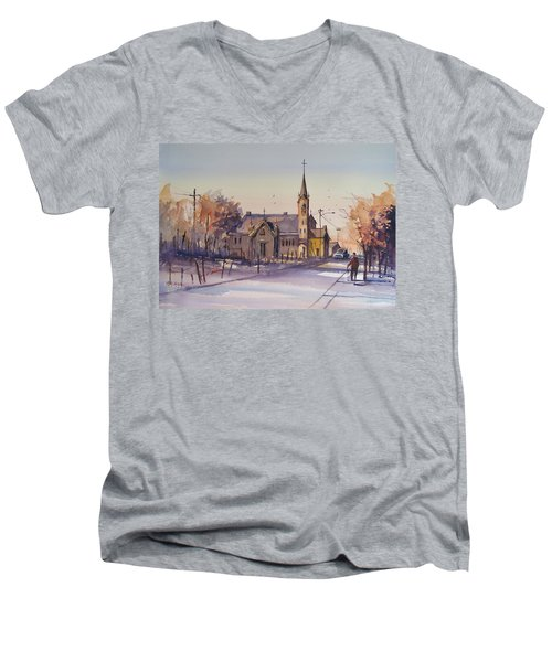 Autumn Stroll In Kaukauna Men's V-Neck T-Shirt