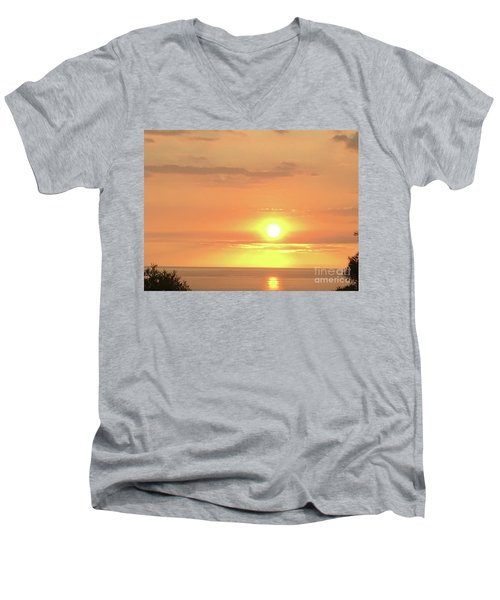 Autumn Sunset Men's V-Neck T-Shirt