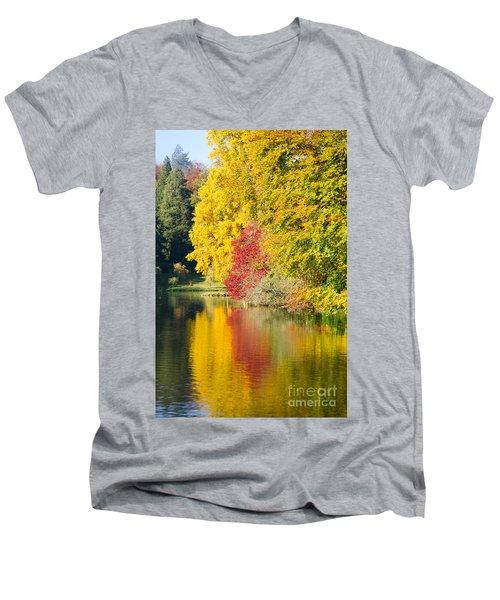 Autumn Trees Men's V-Neck T-Shirt