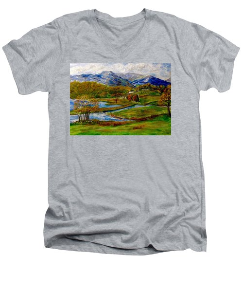 Autumn View Of The Trossachs Men's V-Neck T-Shirt