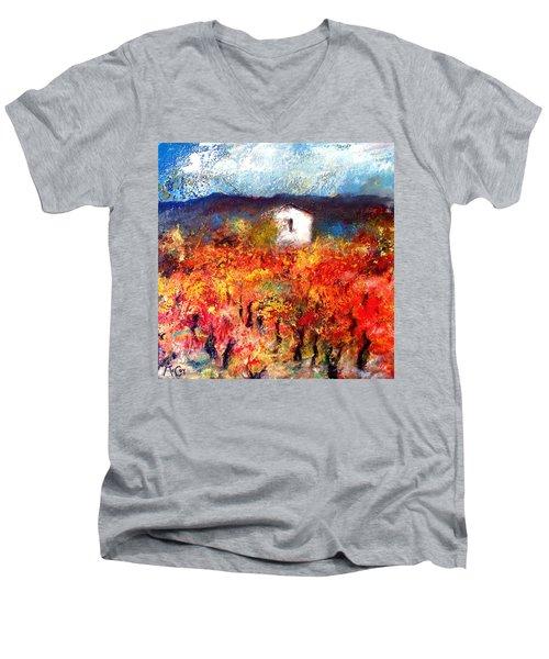 Autumn Vineyard Men's V-Neck T-Shirt