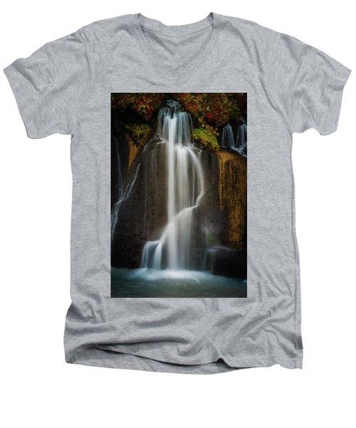 Autumn Waterfall Men's V-Neck T-Shirt