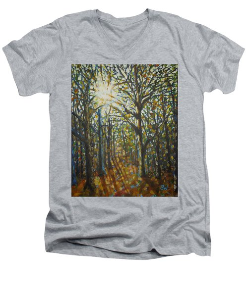 Autumn Wood Men's V-Neck T-Shirt