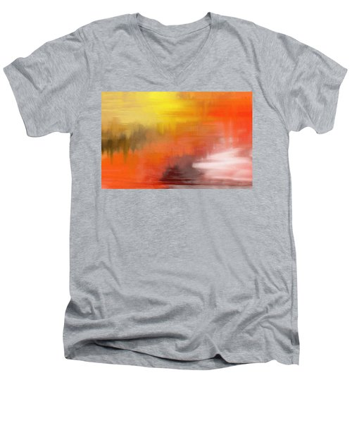Autumnal Abstract  Men's V-Neck T-Shirt