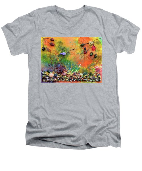 Autumnal Enchantment Men's V-Neck T-Shirt by Donna Blackhall