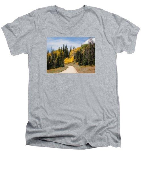 Men's V-Neck T-Shirt featuring the photograph Autumnal Forest-dixie National Forest Utah by Deborah Moen