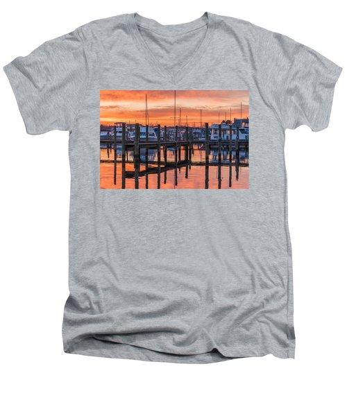 Men's V-Neck T-Shirt featuring the photograph Autumnal Sky by Kristopher Schoenleber