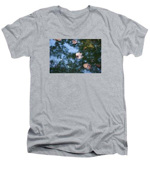 Men's V-Neck T-Shirt featuring the photograph Autumn's Here by Allen Carroll