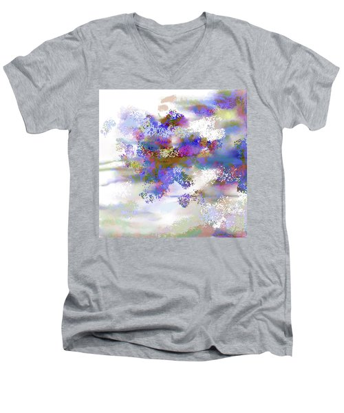 Men's V-Neck T-Shirt featuring the digital art Ava Sprite by Constance Krejci