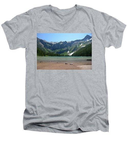 Avalanche Lake Men's V-Neck T-Shirt