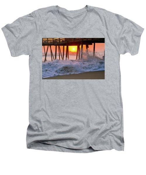 Avalon Fishing Pier Sunrise Men's V-Neck T-Shirt
