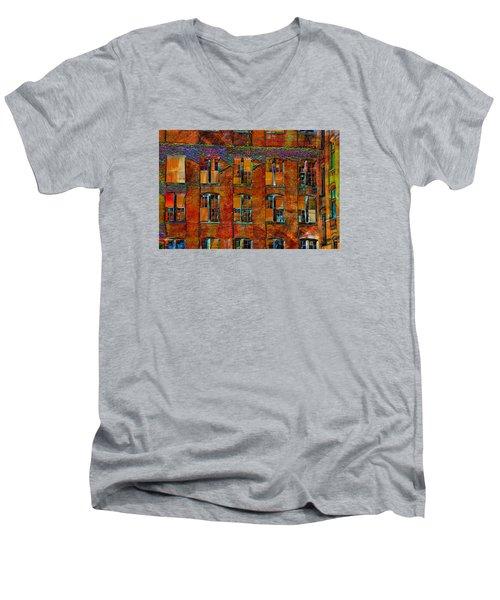 Avant-garde Building Men's V-Neck T-Shirt