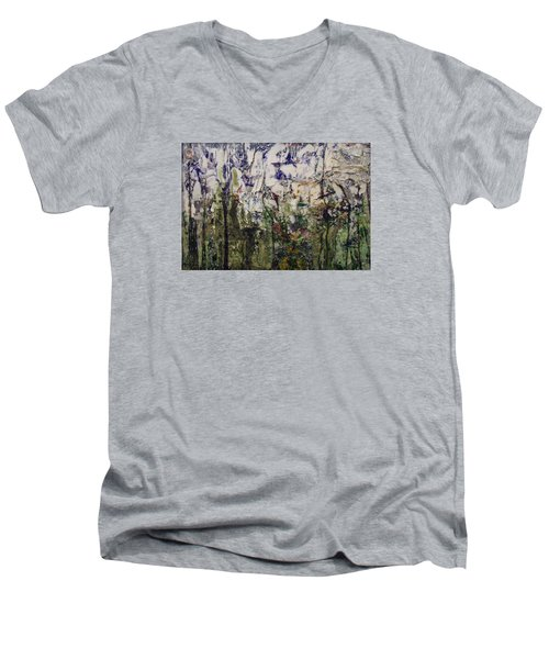 Aviary Men's V-Neck T-Shirt by Ron Richard Baviello