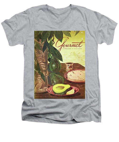 Avocado And Tortillas Men's V-Neck T-Shirt