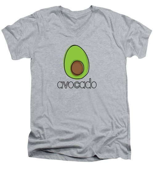Avocado Men's V-Neck T-Shirt by Monette Pangan