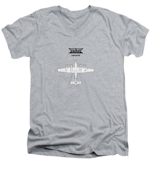 Avro Lancaster Men's V-Neck T-Shirt by Mark Rogan