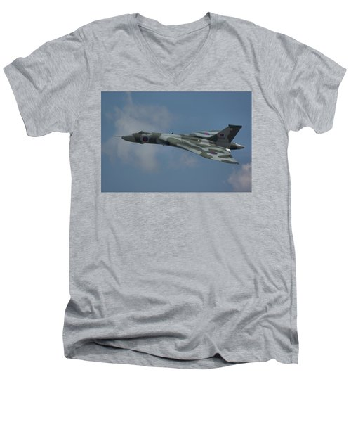 Avro Vulcan B2 Xh558 Men's V-Neck T-Shirt by Tim Beach
