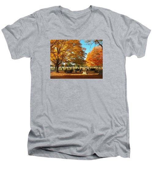 Awaiting Winter's Chill Men's V-Neck T-Shirt