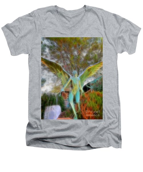 Men's V-Neck T-Shirt featuring the photograph Awaken by Gina Savage