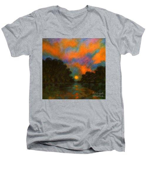 Awaken The Dream Men's V-Neck T-Shirt by Alison Caltrider