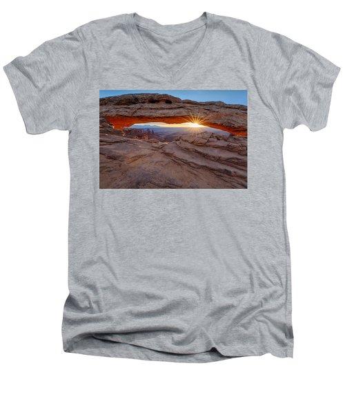 Awakening At Mesa Arch Men's V-Neck T-Shirt
