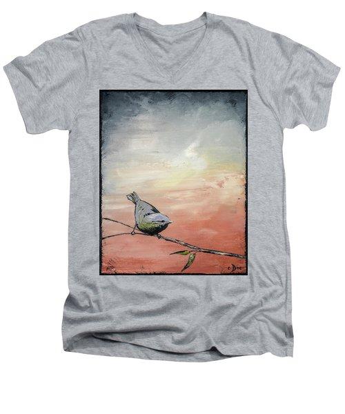 Awakening Men's V-Neck T-Shirt by Carolyn Doe